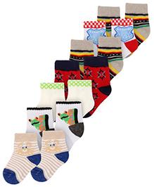 Carters Ankle Length Printed Socks - Set of 7