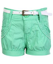 Gini & Jony Fixed Waist Hot Shorts - Green