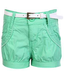 Gini & Jony Fixed Waist Hot Shorts - Green