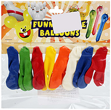 Celeberations! Rubber Play Balloons Funny Mickey Mouse Shape Small - 8 Balloons