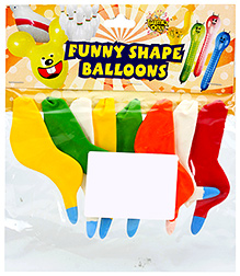 Celebrations Rubber Play Balloons Funny Bird Shape Small - 8 Balloons