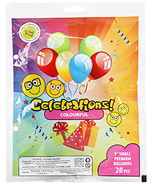 Celeberations! Rubber Play Balloons Small - 20 Balloons