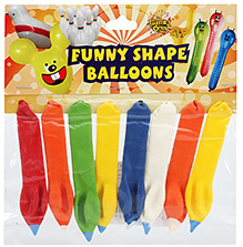 Celeberations! Rubber Play Balloons Funny Shape Balloons Small - 8 Balloons
