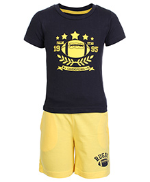Gini & Jony Half Sleeves T- Shirt And Shorts Set
