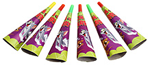 Tom and Jerry Paper Horns - Pack Of 6