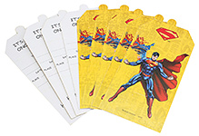 Superman Invitation Cards - Pack Of 10