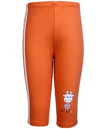 Tango Track Pant Orange - Giraffe Print