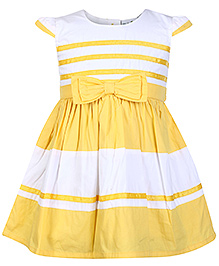 Babyhug Cap Sleeves Frock With Bow