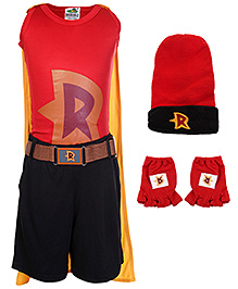 Mighty Raju Theme Costume Set of 6 - Red