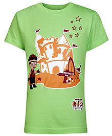 Mighty Raju Half Sleeves T-Shirt Green - Rio Calling Print