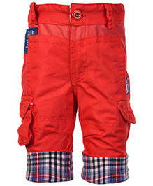 Little Kangaroos Jamaican Shorts With Pockets - Red