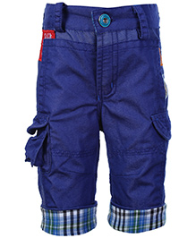 Little Kangaroos Jamaican Shorts With Pockets - Blue