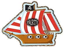Wanna Party Pirate Party Jumbo Invitations - 8 Cards