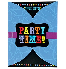 Wanna Party Birthday Cheers Large Novelty Invitation - 8 Cards