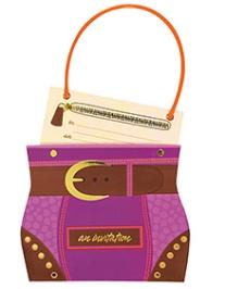 Wanna Party Hip Handbag Jumbo Invite - Pack of 8