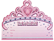 Wanna Party Princess Jumbo Invitation With Envelopes - Pack of 8