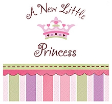 Wanna Party Little Princess Beverage Napkin - Pack of 16
