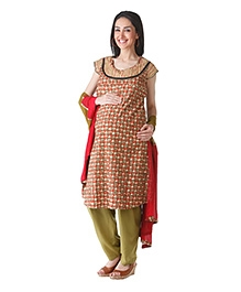 Morph Maroon Kameez With Salwaar And Dupatta