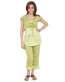 Morph 3 Piece Nursing Pyjama Set - Green