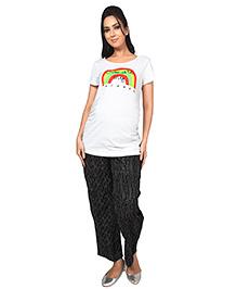Nine Maternity Comfy Pyjama In Stripe Print