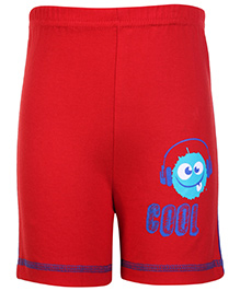 Taeko Bermuda Shorts Red - Cool Print