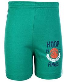 Taeko Bermuda Shorts Green - Hoop Finals Print