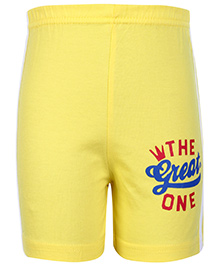 Taeko Bermuda Shorts Yellow - The Great One Print