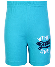 Taeko Bermuda Shorts Aqua Blue - The Great One Print
