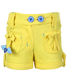 Little Kangaroos Lilk Print Shorts Neon Yellow