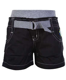 Little Kangaroos Shorts Black With Badge