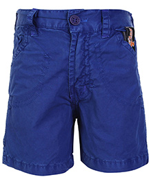 Little Kangaroos Play Print Shorts Royal Blue