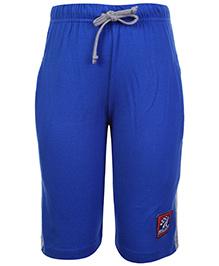 Taeko Three Fourth Bermuda With Two Side Pockets Royal Blue - Moto Sports Print