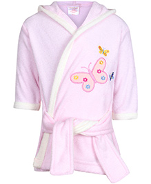 Carters Hooded Bathrobe - Butterfly Print