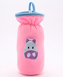 Babyhug Plush Bottle Cover Cute Bug Motif Large - Pink - 8 X 8 X 18 Cm