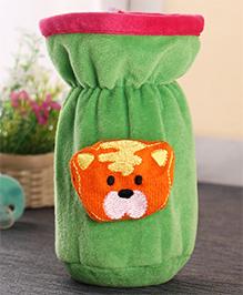 Babyhug Plush Bottle Cover Baby Tiger Motif Medium - Green