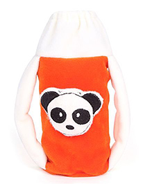 Babyhug Plush Twin Handle Bottle Cover - Panda Motif