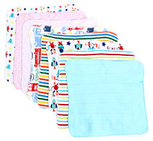 BabyHug Mutlicolor Baby Napkin - Set Of 8