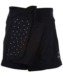 Little Kangaroos Shorts Style Skirt With Bow - Black