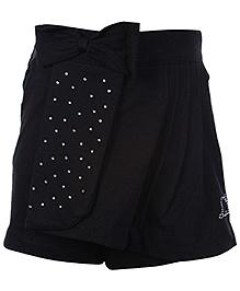 Little Kangaroos Shorts Style Skirt With Bow - Black