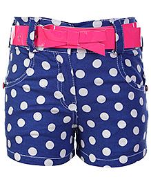 Little Kangaroos Polka Dots Printed Shorts - Blue