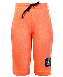 Taeko Three Fourth Bermuda Shorts With Drawstring - Orange