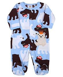 Carters Full Sleeves Bear Printed Footed Romper