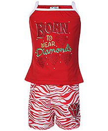 N-XT Singlet Top And Shorts Set - Red