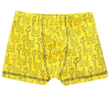 awerganic Brief Giraffe Print - Yellow