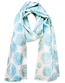 awerganic Scarf Fusion Flower Print - Blue