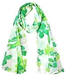 awerganic Scarf Aloha Floral Print - Green