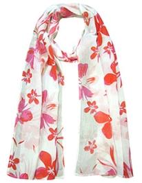 awerganic Scarf Aloha Floral Print - Red