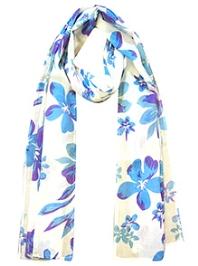awerganic Scarf Aloha Floral Print - Blue