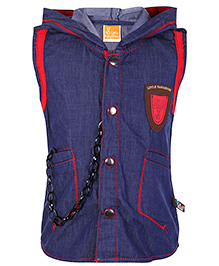 Little Kangaroos Sleeveless Jacket - Blue