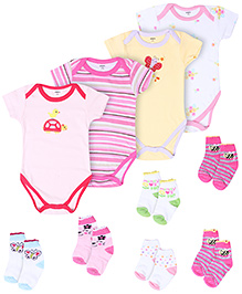Carters Combo Pack Of Onesies And Socks - Set Of 10